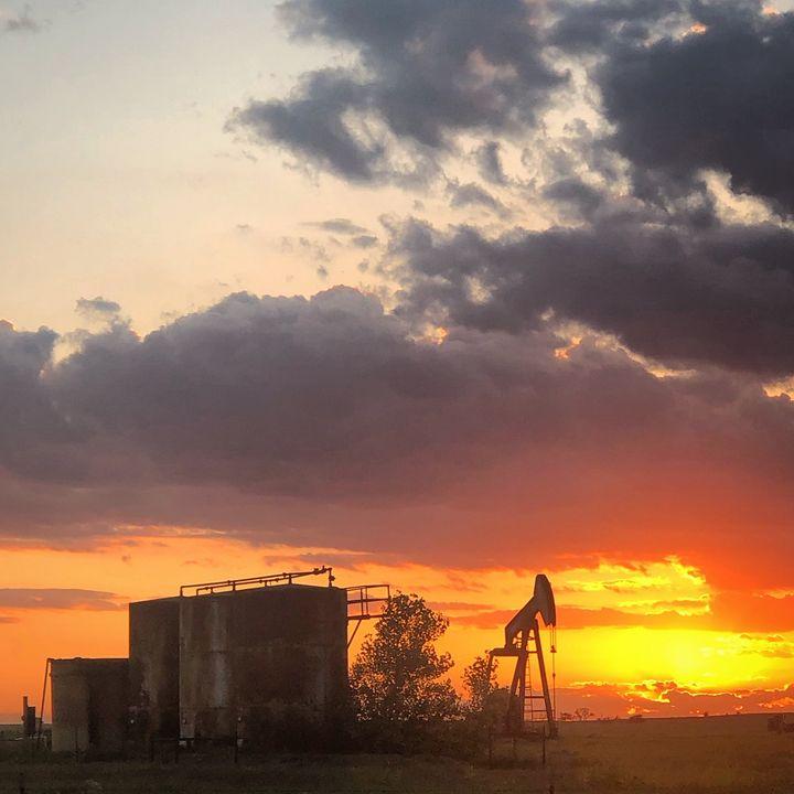 Oil Rig Sunset - Corey Browne