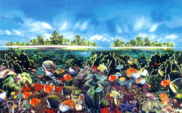 Tahitian Black Pearl Reef - Brett Livingstone Strong