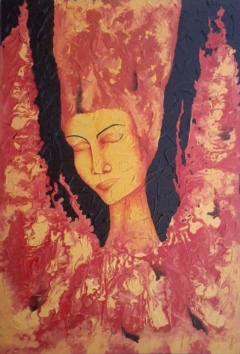 fire lady - sanjay mochi art gellery