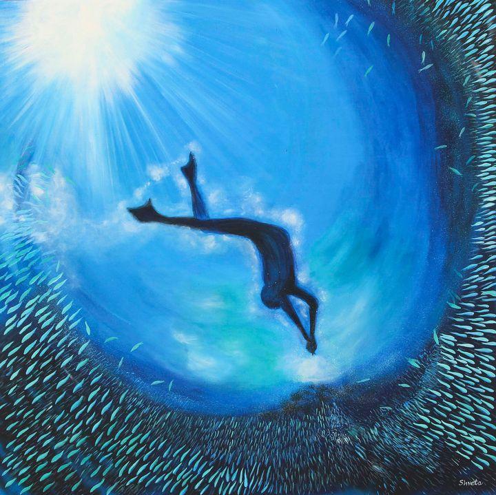 Deep Blue - Shveta Saxena Art