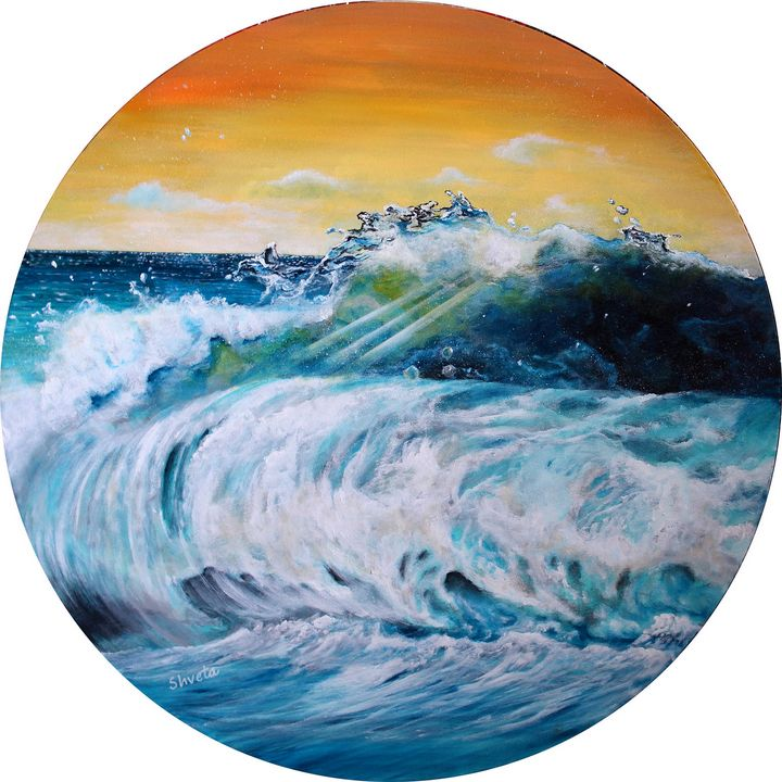 Blue Surf - Shveta Saxena Art