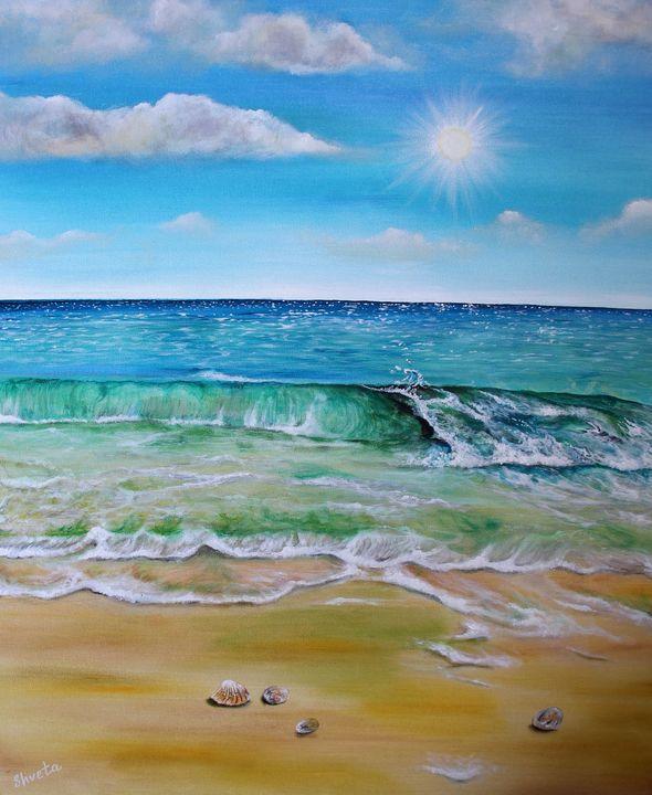 Summer waves - Shveta Saxena Art