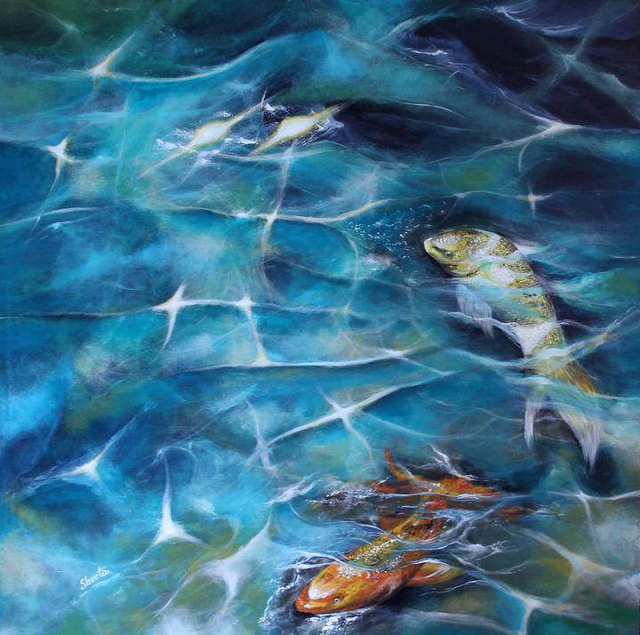Koi Fish3 - Shveta Saxena Art