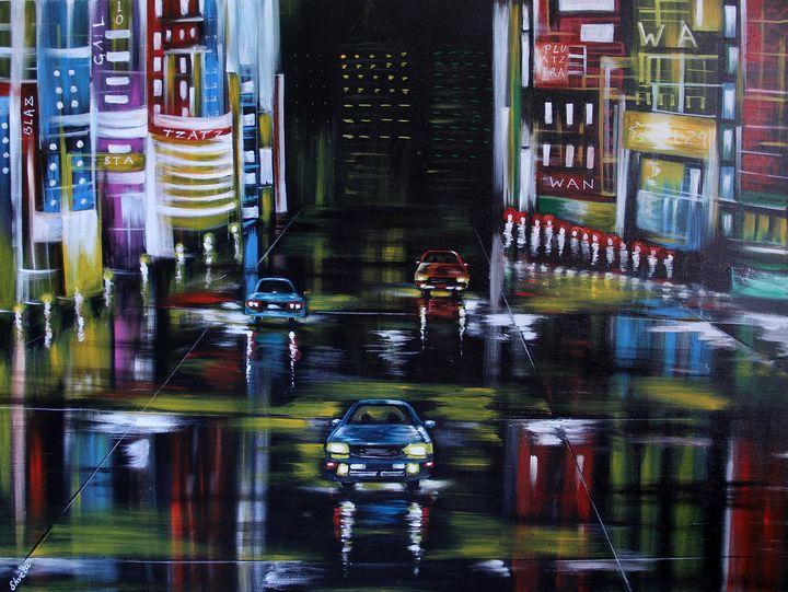 Urban Night1 - Shveta Saxena Art