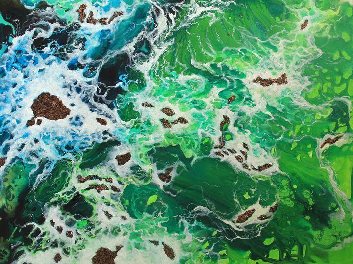Ocean Hues - Shveta Saxena Art