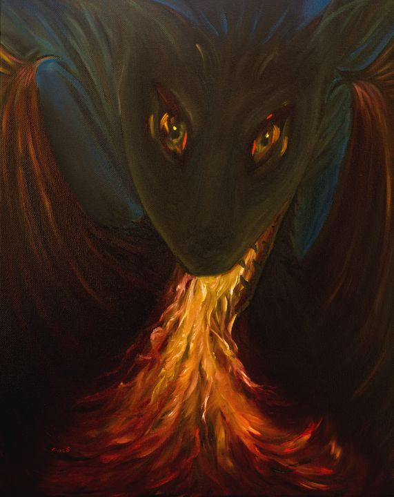 Dragon baby - Painting Art by Zina S