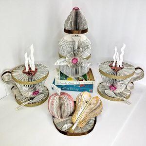 Coffee Pot Set Book Art Sculptures - NY68.art