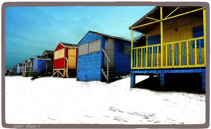 Winter Beach Huts - Lighthouse Publishing