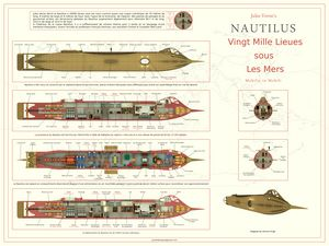 Jules Verne Nautilus French A1