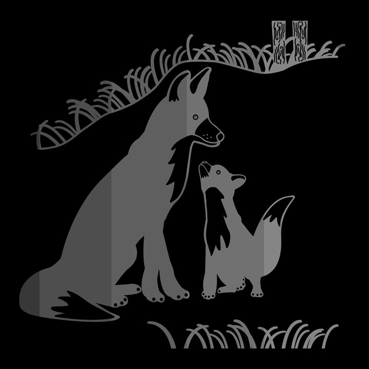 'Pop and Pup' CC: Invert Grayscale - Royal Jester Prints