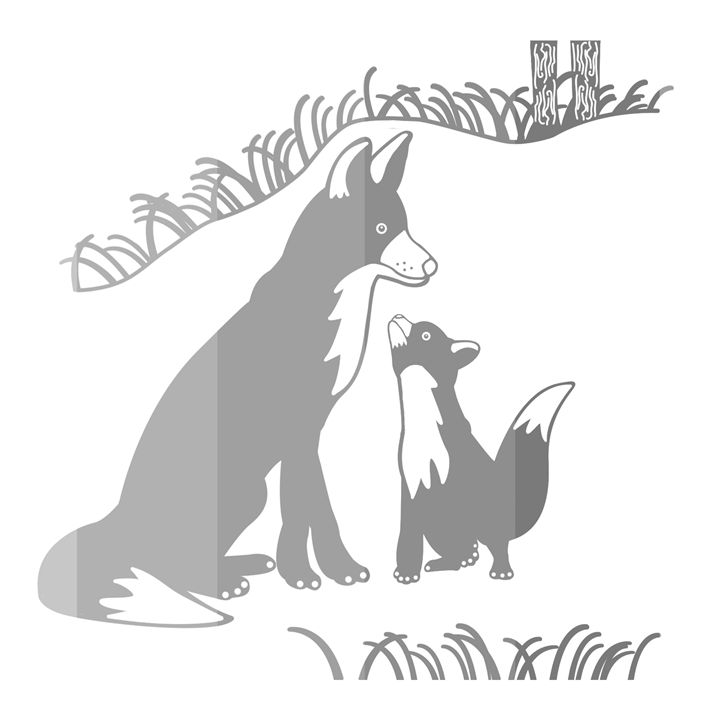 'Pop and Pup' CC: Grayscale - Royal Jester Prints