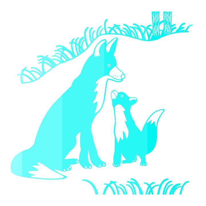 'Pop and Pup' CC: Blue - Royal Jester Prints