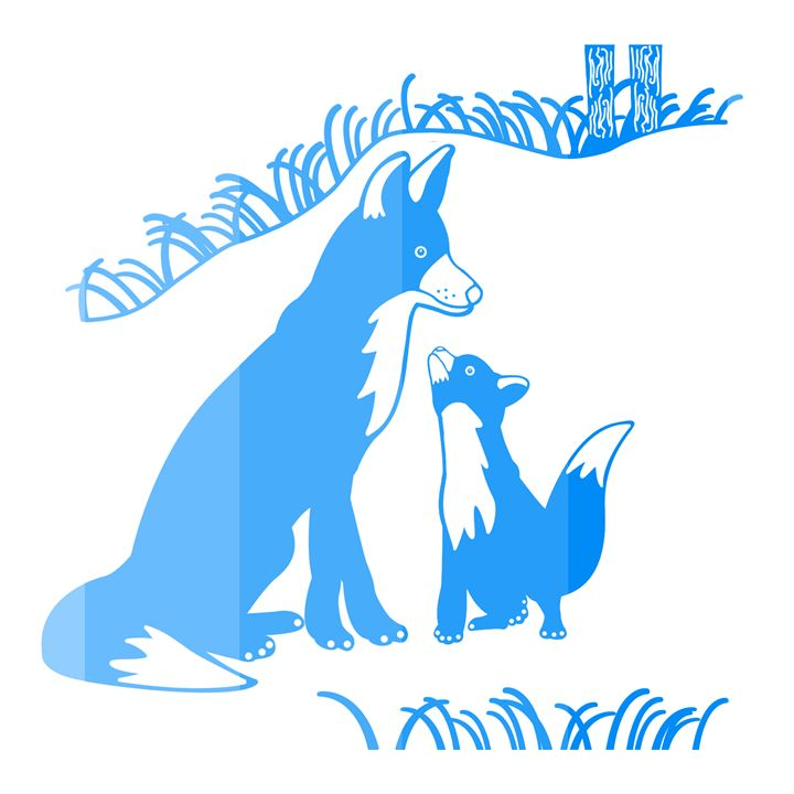 'Pop and Pup' CC: Marine Blue - Royal Jester Prints