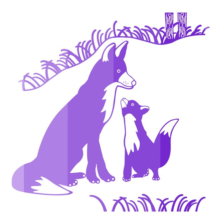 'Pop and Pup' CC: Purple - Royal Jester Prints