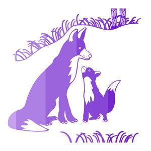 'Pop and Pup' CC: Purple