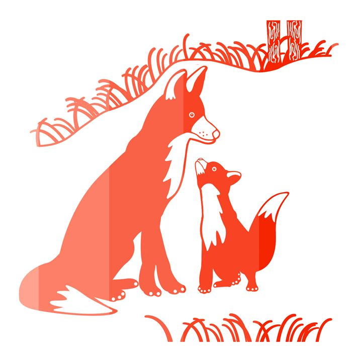 'Pop and Pup' CC: Red - Royal Jester Prints