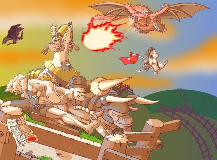 Llama Knight - Promotional Poster - Royal Jester Prints