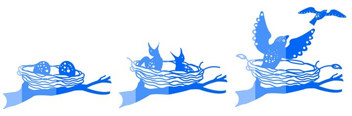 'Fly the Nest' CC: Marine Blue - Royal Jester Prints