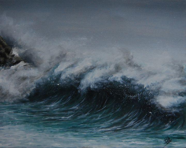 "Oil painting ""Tormento"" - Martina Bonaccorso"