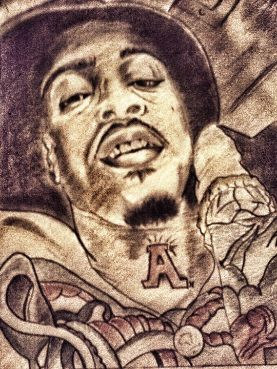 August Alsina Portrait - Zingyboient1 Art