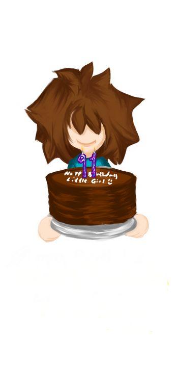 Happy Birthday Little Girl - MieArt
