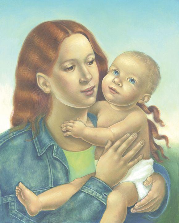 Mother & child - art