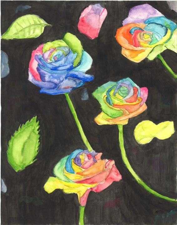 Rainbow Flowers - Gabby Heller