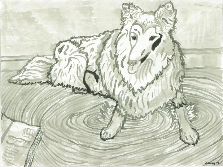 Black and White Dog - Gabby Heller
