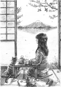 Fuji Mountain Tea Time_ 富士山与下午茶