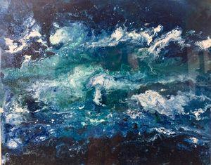 Ocean At Night. Original