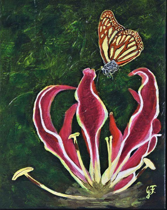 Exotic Flower - 3DLeatherart