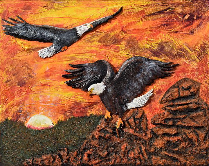 Eagle Landing - 3DLeatherart