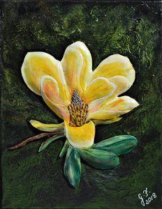 Yellow Magnolia - 3DLeatherart