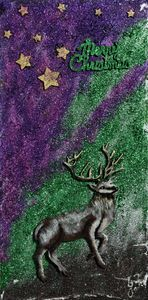 Northern Lights Christmas Greetings - 3DLeatherart
