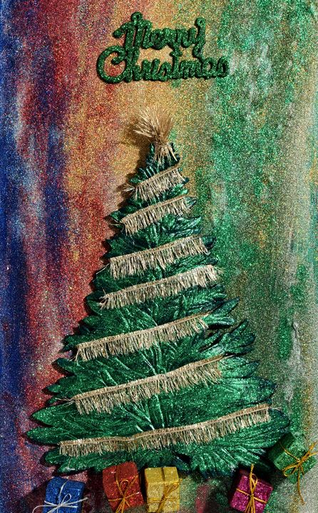 Festive Christmas Tree - 3DLeatherart
