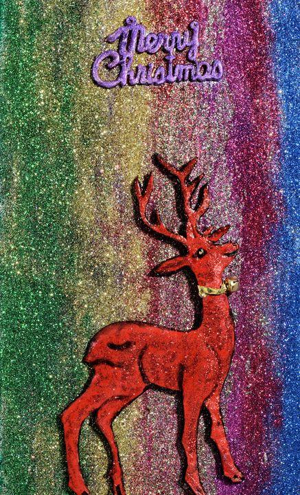 Red Reindeer Christmas Greetings - 3DLeatherart