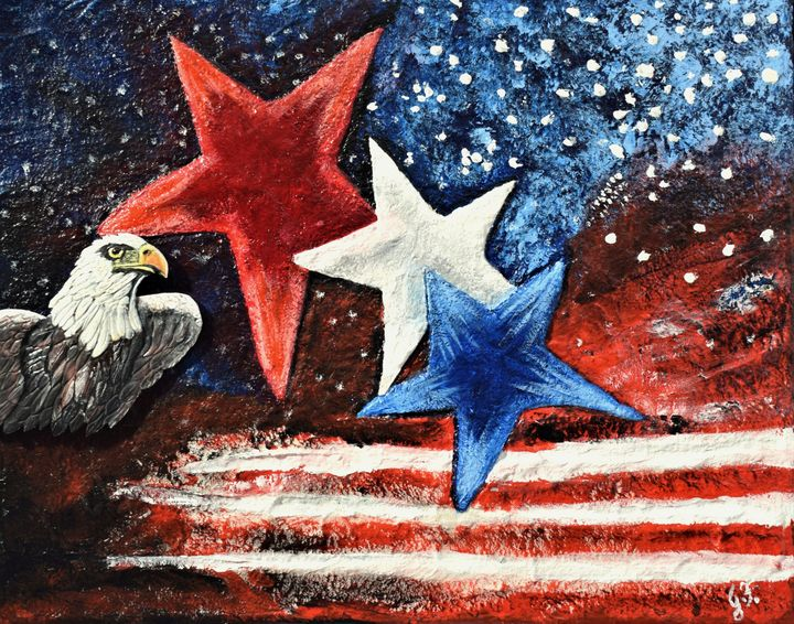 Stars and Stripes - 3DLeatherart