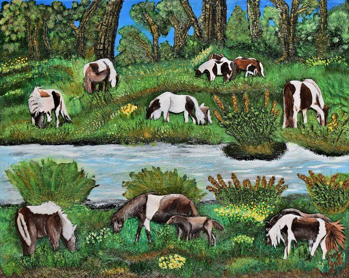 The Chincoteague Feral Paint Ponies - 3DLeatherart