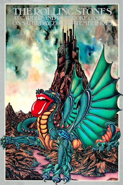 1973 Rolling Stones Concert Print - kateburnessart