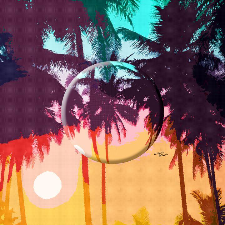 Palm Tree Reflection - D76gl1s M5nd5s