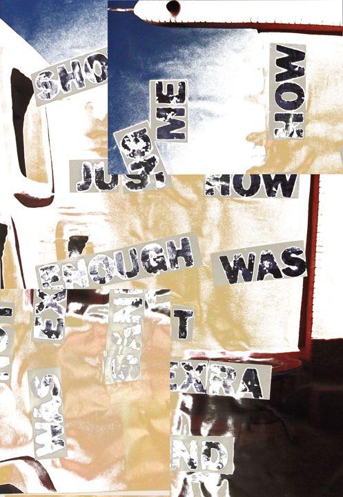 Sandtext abstract - Steve White Art & Design