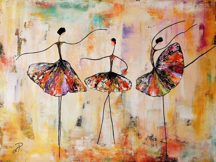 Three ballerinas on the podium - Finesse Art Boutique