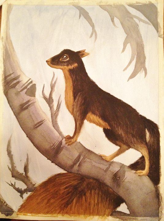 Squirrel Weasel - Fan Art - Watercolors