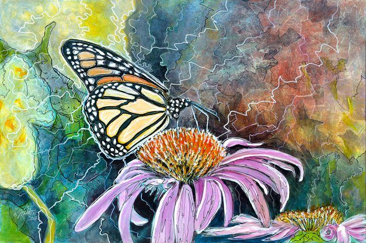 Monarch Coneflower - Mike Mikottis Artworks
