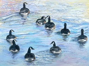 Goose Gossip - Mike Mikottis Artworks