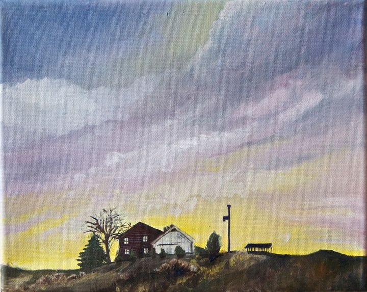 Small House oil on canvas - Jessica D Perez