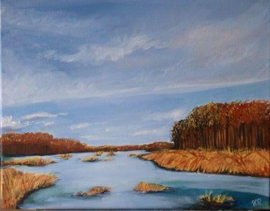Swamp, oil on canvas - Jessica D Perez