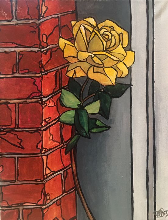 Rose on Brick - Jessica D Perez
