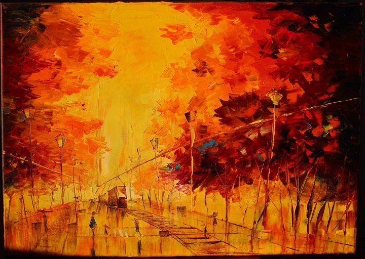 Autumn City - Walperion_Paintings