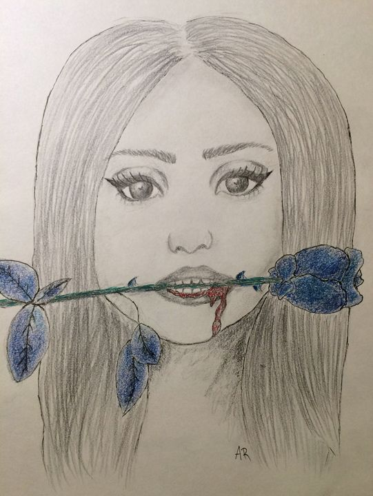 Lana Del Rey and the Rose - Anna's Art